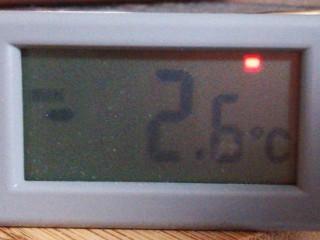 2013年3月頃の最低気温